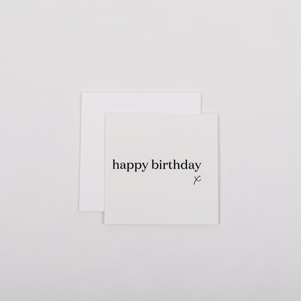 Wrinkle and Crease Paper Products Mini Notecard - Happy Birthday (X)