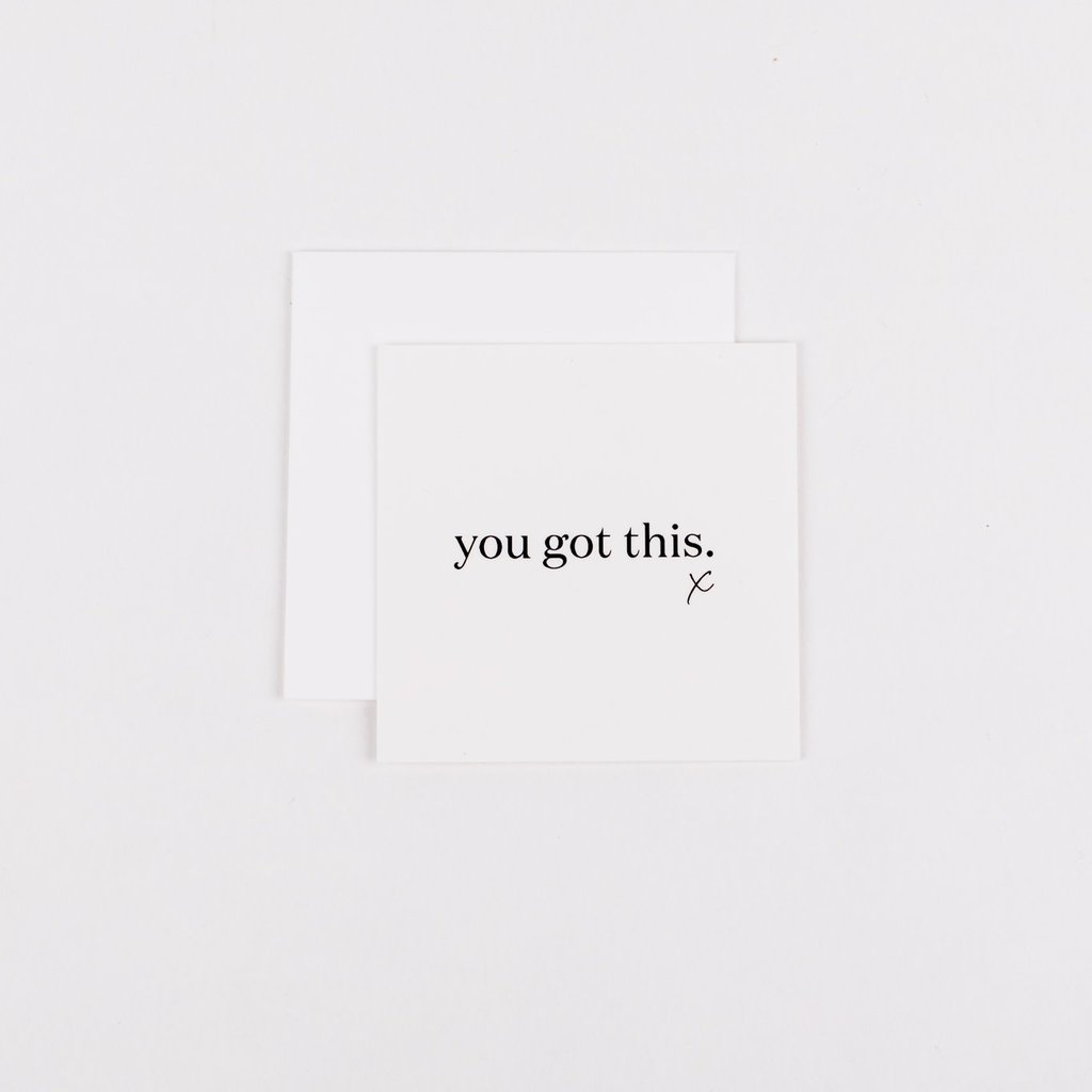 Wrinkle and Crease Paper Products Mini Notecard - You Got This