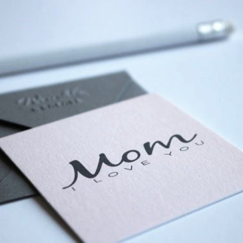 Wrinkle and Crease Paper Products Mom I Love You- Mini Notecard