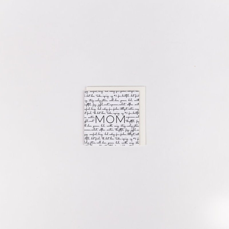 Wrinkle and Crease Paper Products Mom Mini Notecard