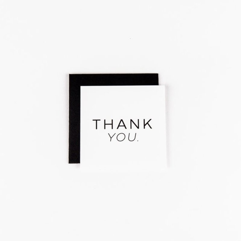 Wrinkle and Crease Paper Products Thank You - White Mini Notecard