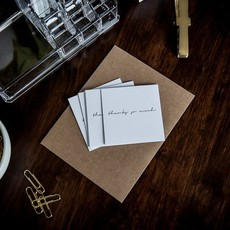 Wrinkle and Crease Paper Products Thanks So Much - Mini Notecard