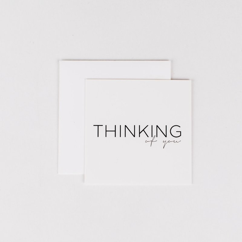 Wrinkle and Crease Paper Products Thinking of You Mini Notecard