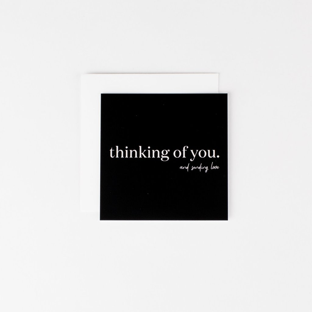 Wrinkle and Crease Paper Products Thinking of You & Sending Love Notecard