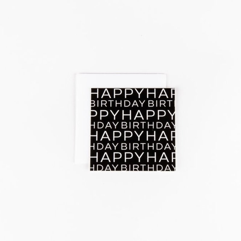Wrinkle and Crease Paper Products Happy Birthday Mix Print Notecard