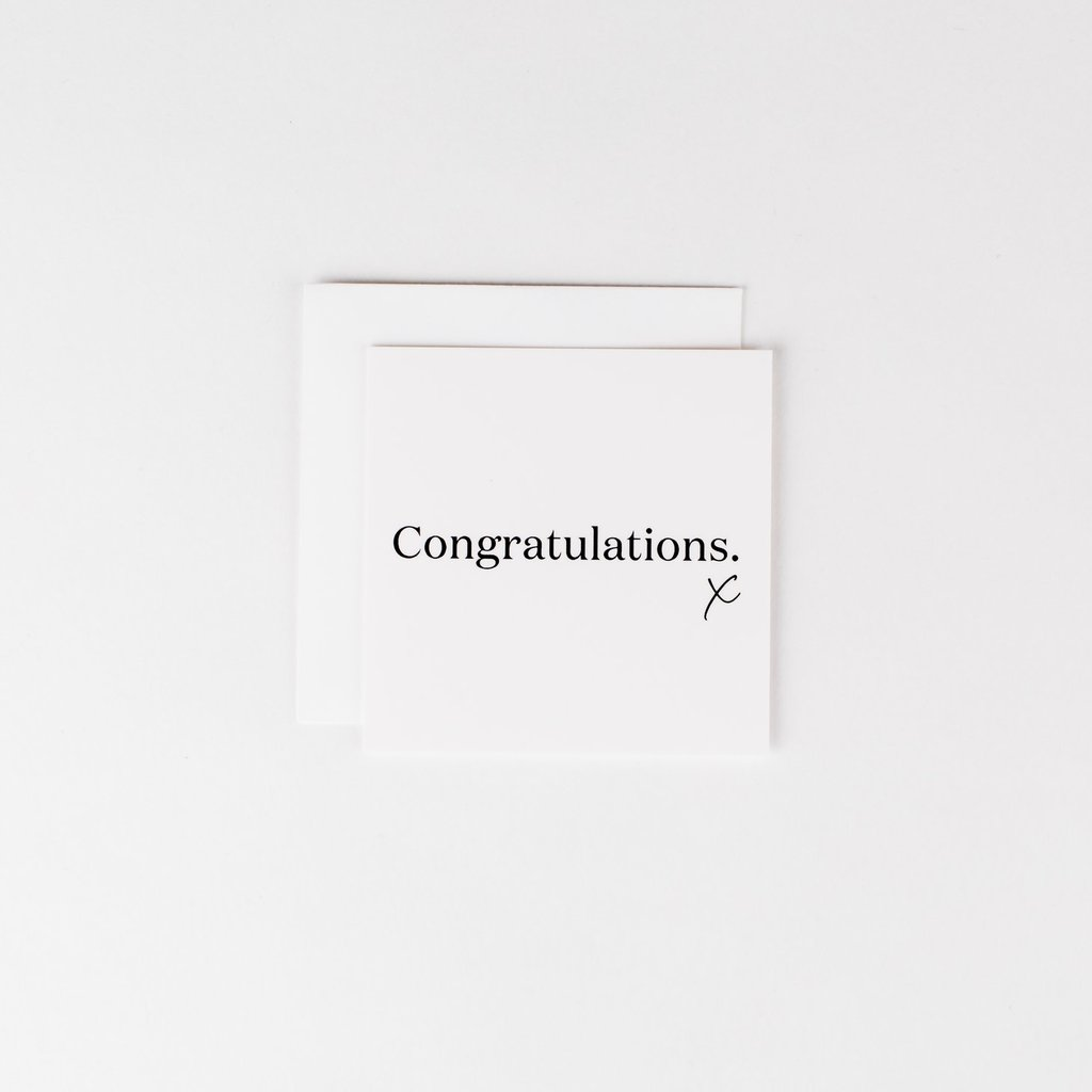 Wrinkle and Crease Paper Products Congratulations Notecard