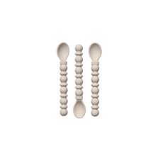The Dearest Grey Silicone Teethy Utensil | Ivory (Set of 3)