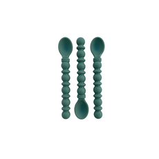 The Dearest Grey Silicone Teethy Utensil | Speckled Spruce (Set of 3)