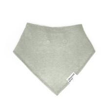 The Dearest Grey Cloth Bib   Sage
