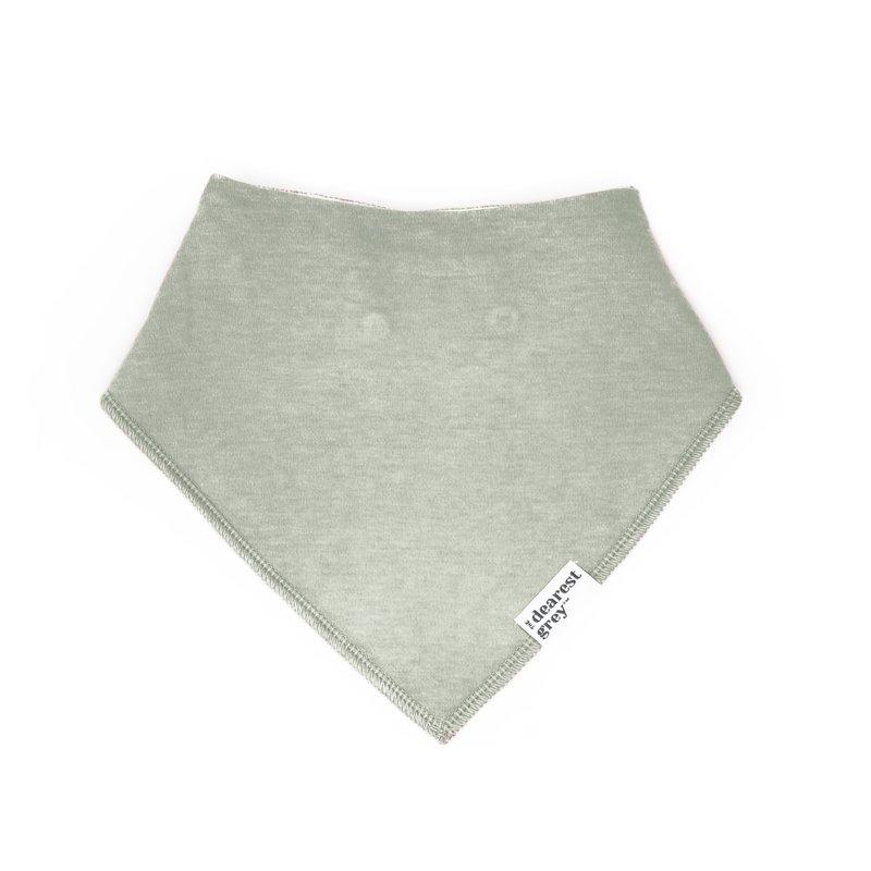The Dearest Grey Cloth Bib | Sage