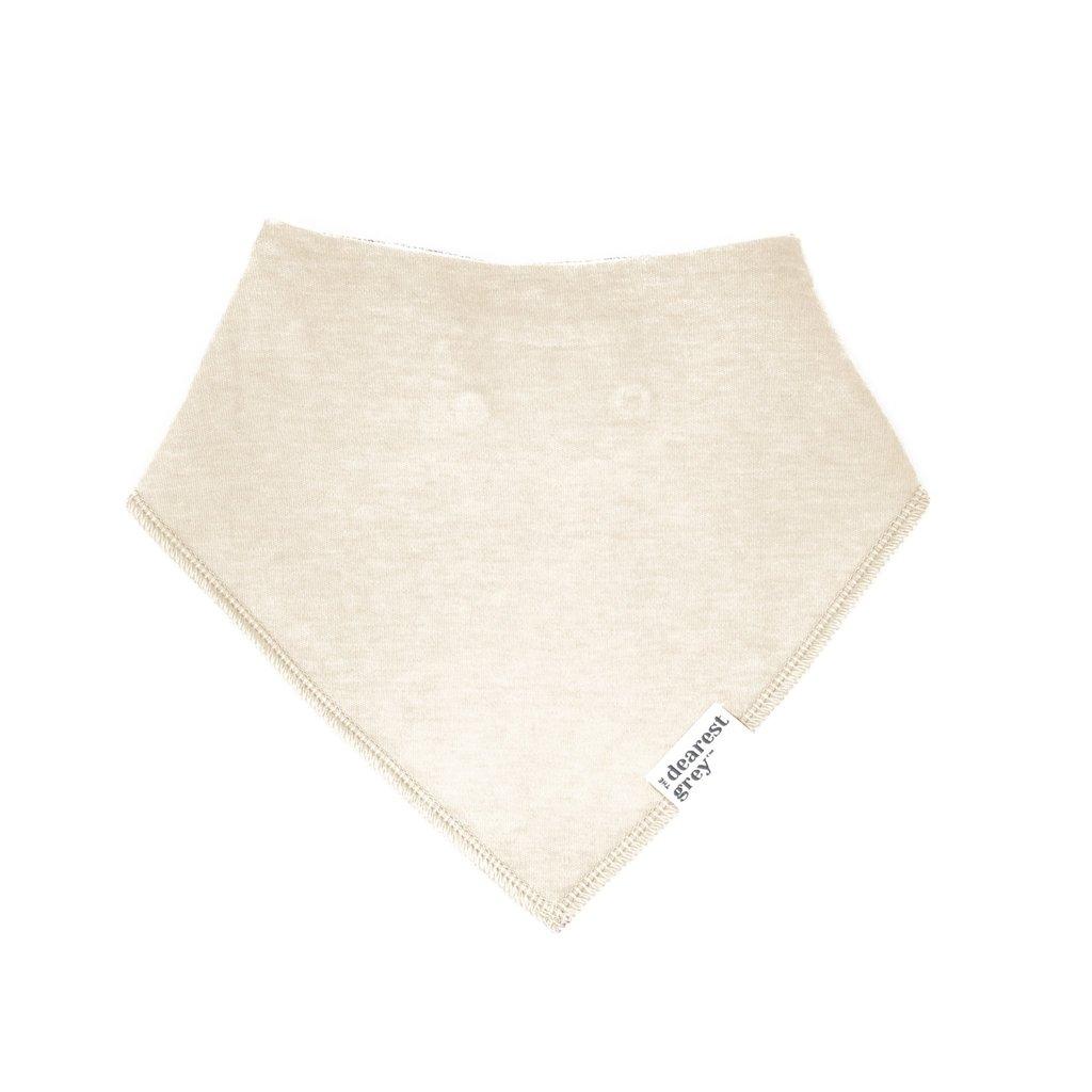 The Dearest Grey Cloth Bib   Vanilla