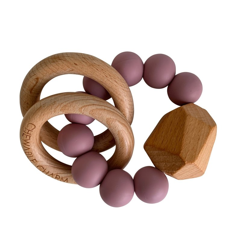 Chewable Charm Hayes Silicone + Wood Teether - Gem
