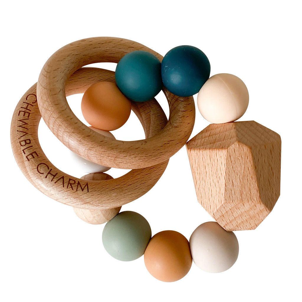 Chewable Charm Hayes Silicone + Wood Teether - Summer