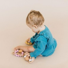 Chewable Charm Hayes Silicone + Wood Teether Ring - Moonstone