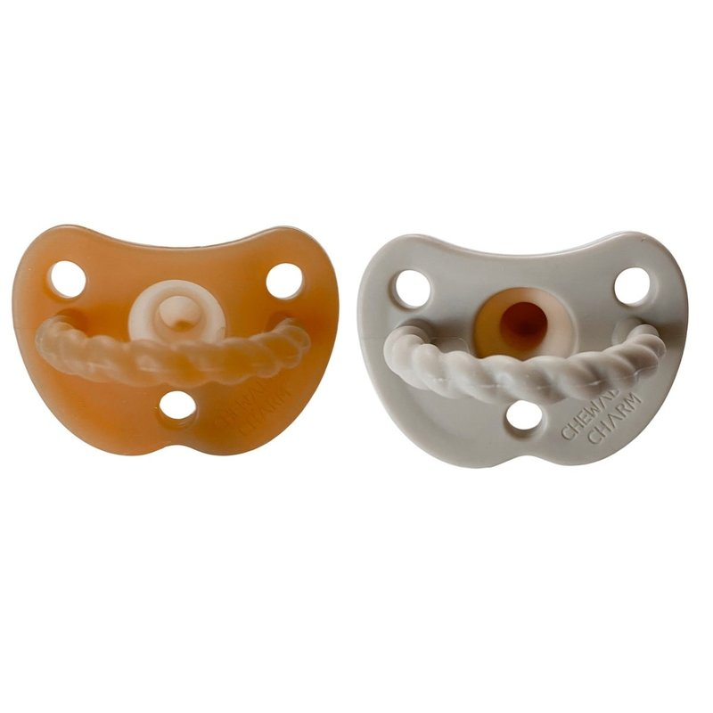 Chewable Charm 2 Pack Pacifier + Twirl   Natural + Oat
