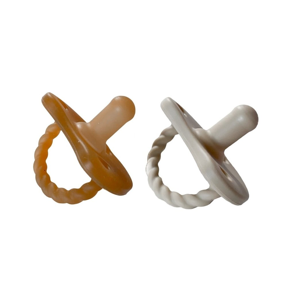 Chewable Charm 2 Pack Pacifier + Twirl | Natural + Oat