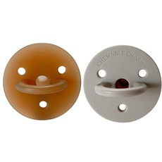 Chewable Charm 2 Pack Pacifier | Natural + Oat