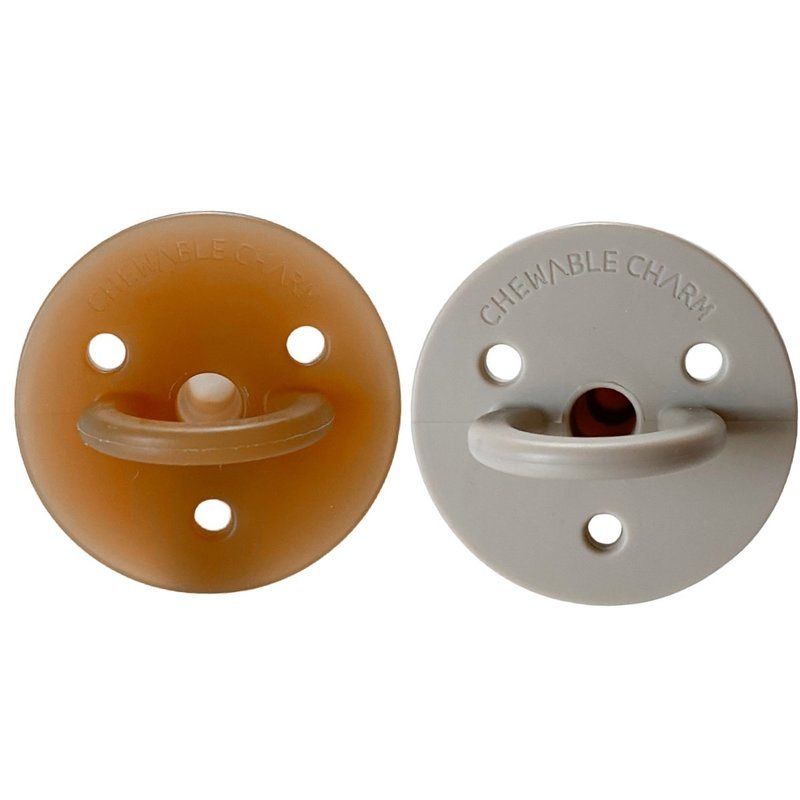 Chewable Charm 2 Pack Pacifier   Natural + Oat