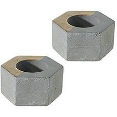 Deux Candleholder Hexagon