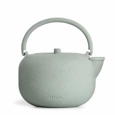 SAGA Cast Iron Teapot: Stone Mint