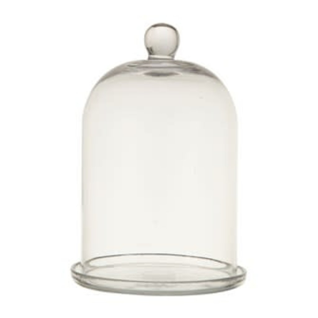Creative Coop Glass Cloche w/Plate, set of 2
