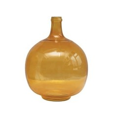 Creative Coop Glass Bottle, Mustard