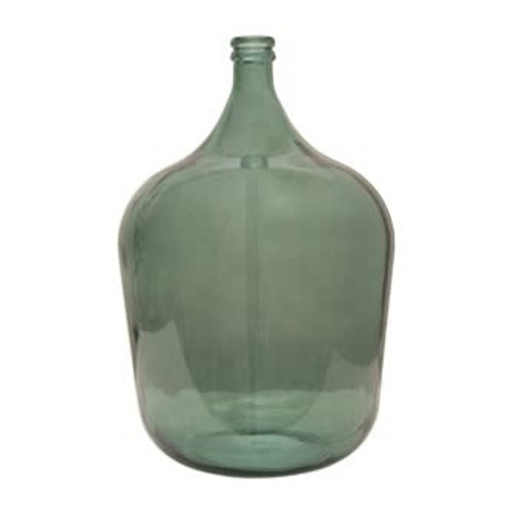Creative Coop Round Glass Carafe - Moss Color