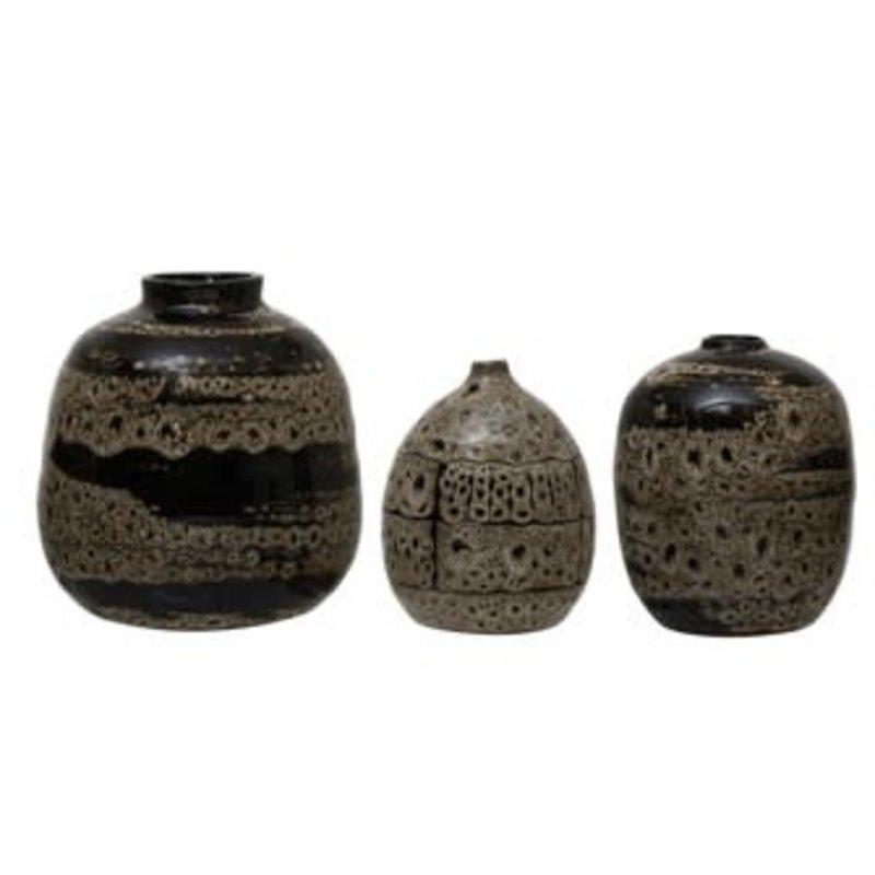 Creative Coop Terra-cotta Vases - Brown