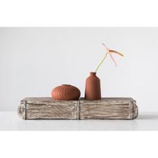 """Creative Coop 7"""" Stoneware Vase - Sienna"""