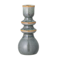 """Bloomingville 3""""stoneware taper holder, blue and brown"""
