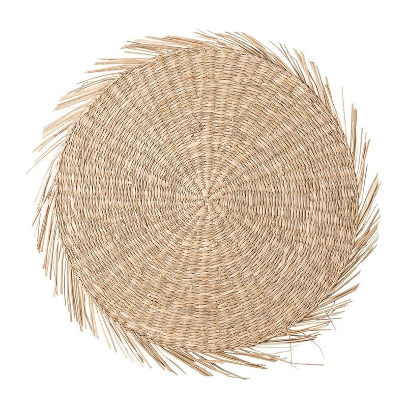 """Bloomingville 15"""" ROUND HAND-WOVEN SEAGRASS PLACEMAT"""