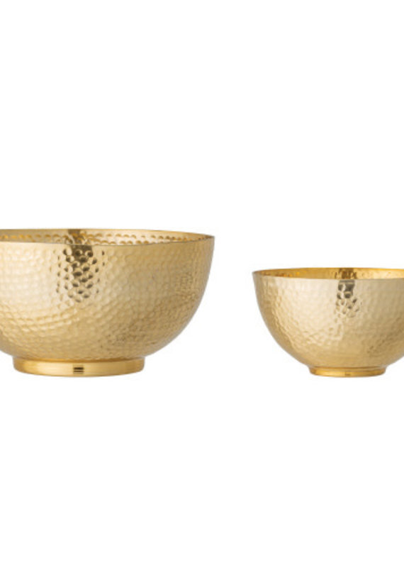 Bloomingville Hammered Metal Bowls - Set of 2
