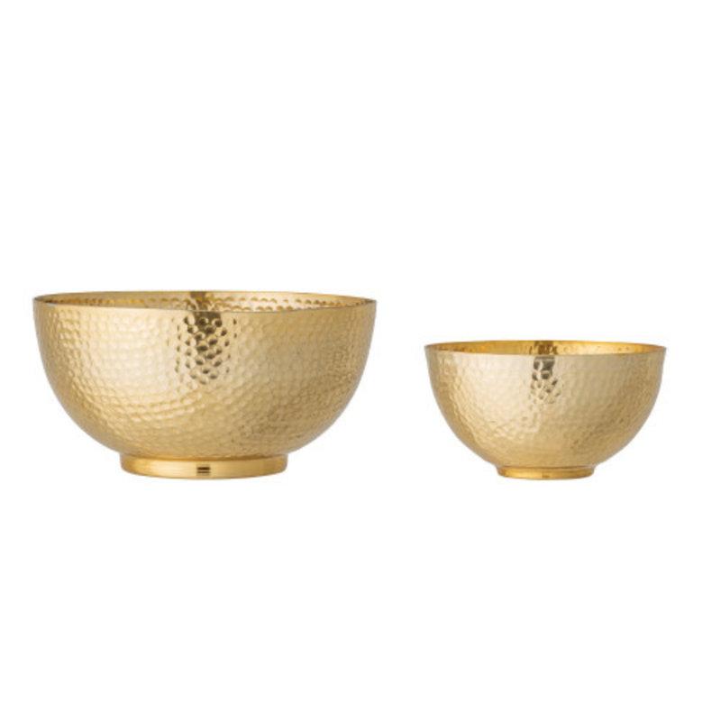 Bloomingville Hammered Metal Bowls - Set of 2