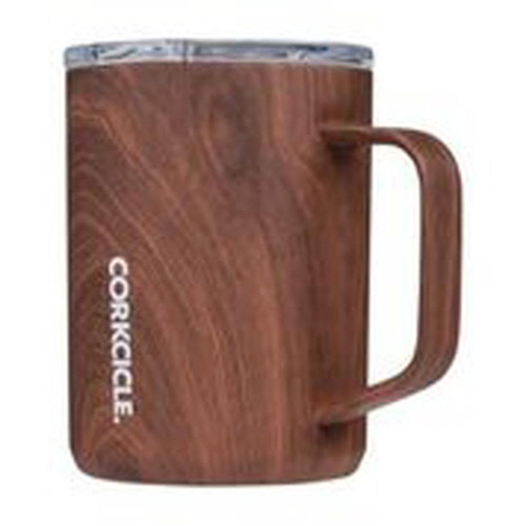 Corkcicle Coffee Mug - 16oz Walnut Wood