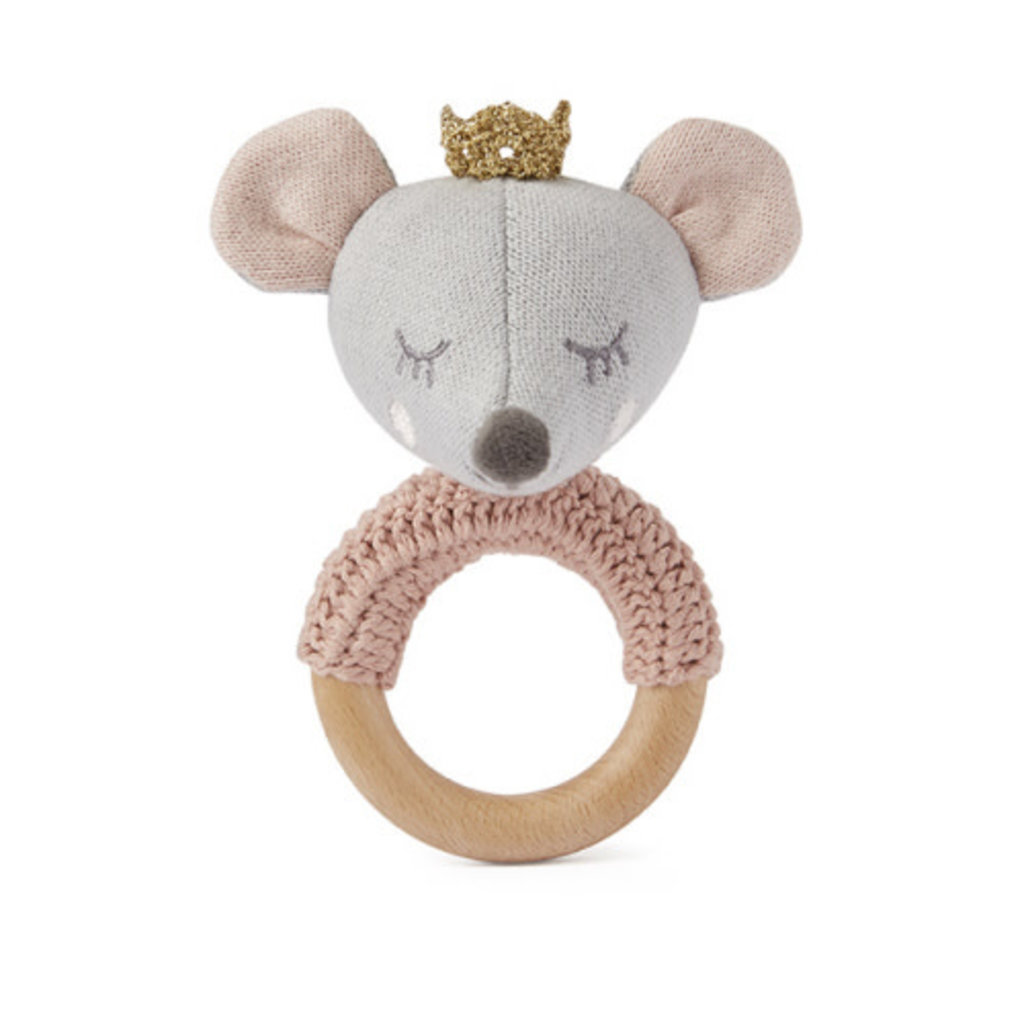 Elegant Baby RING RATTLE - MOUSE