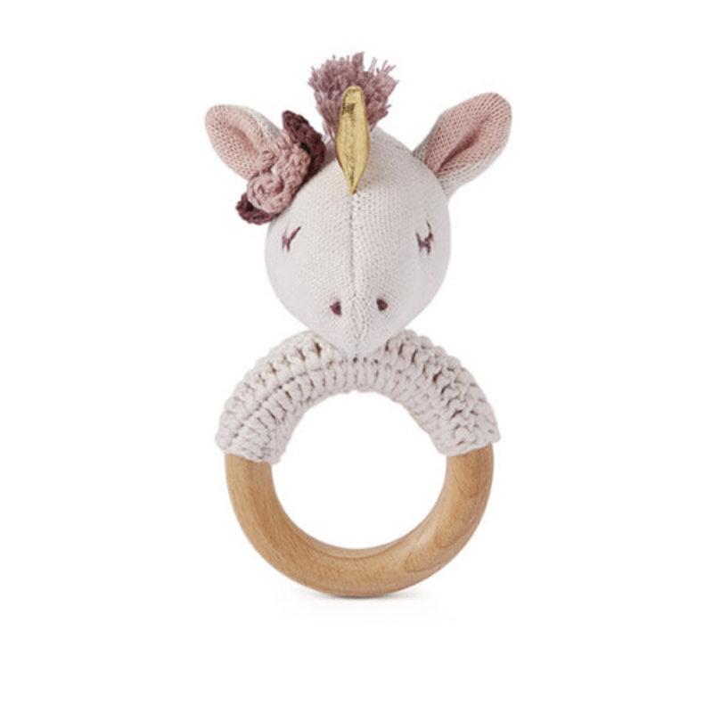 Elegant Baby RING RATTLE - UNICORN