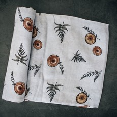 The Swaddle Company Organic Forest Slices Receiving Blanket