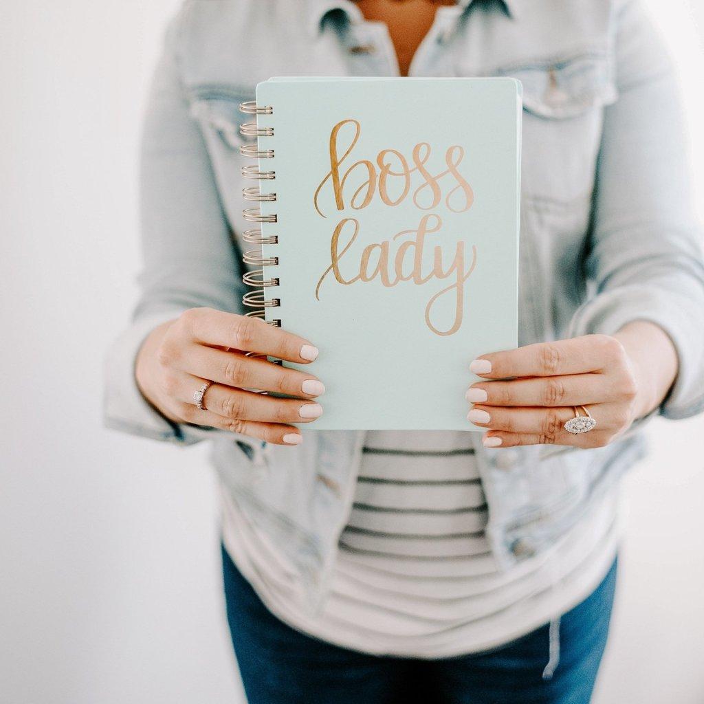 Sweet Water Decor Boss Lady Mint Spiral Notebook