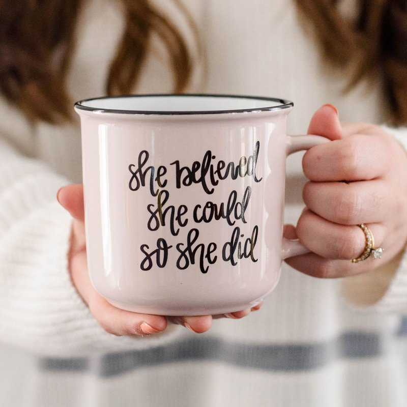 Sweet Water Decor She Believed She Could So She Did Campfire Coffee Mug