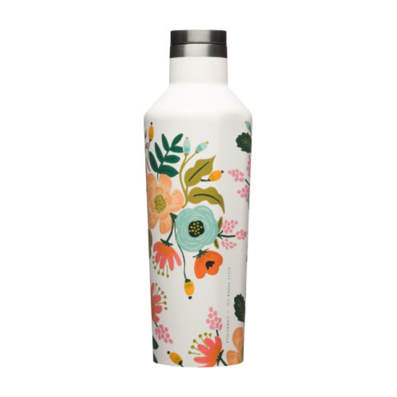 Corkcicle CANTEEN - 16OZ GLOSS CREAM LIVELY FLORAL
