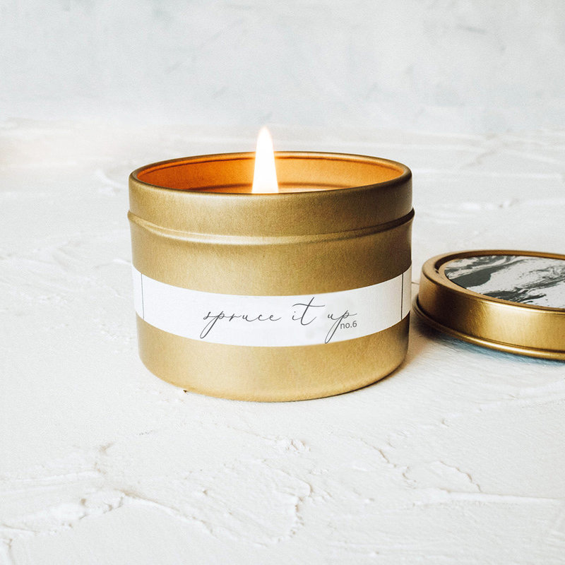 Spruce It Up Gold Travel Tin