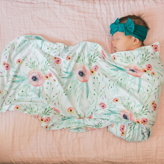 Dolly Lana Floral Kiss Baby Swaddle Blanket