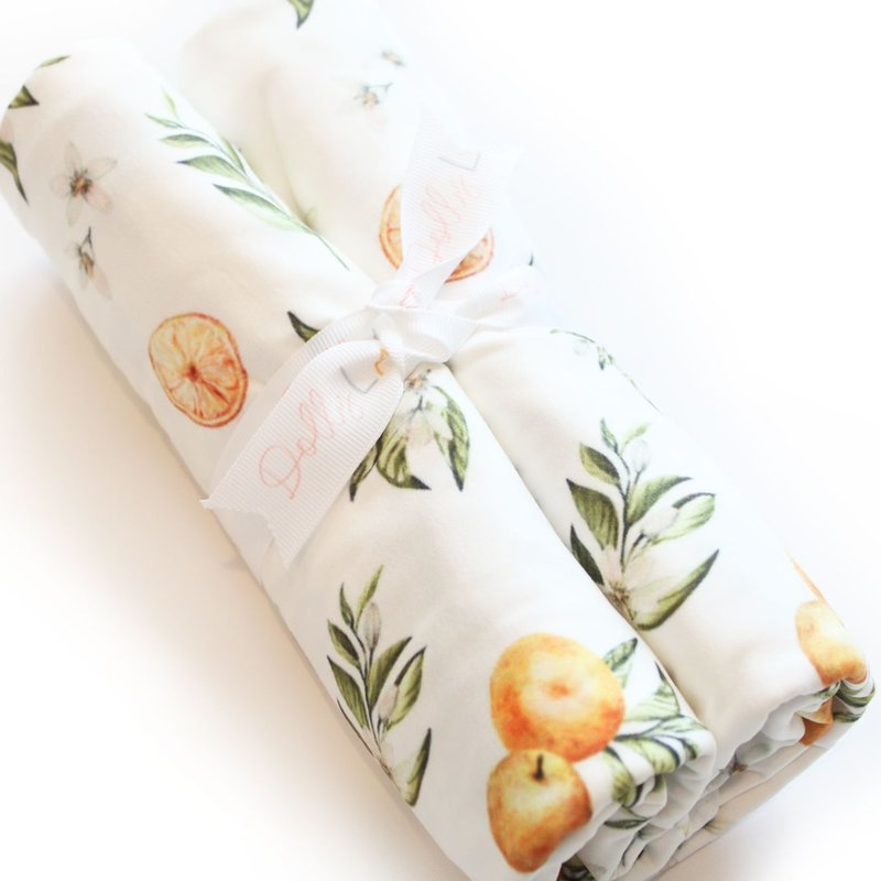 Dolly Lana Tangerine Fruit Swaddle Blanket