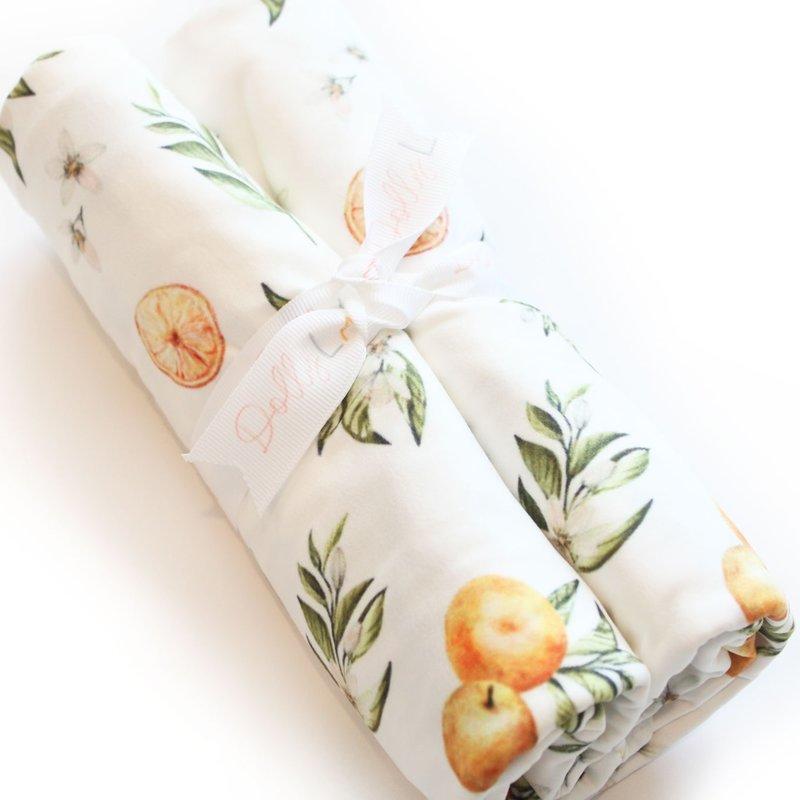 Dolly Lana Tangerine Fruit Swaddle Blanket