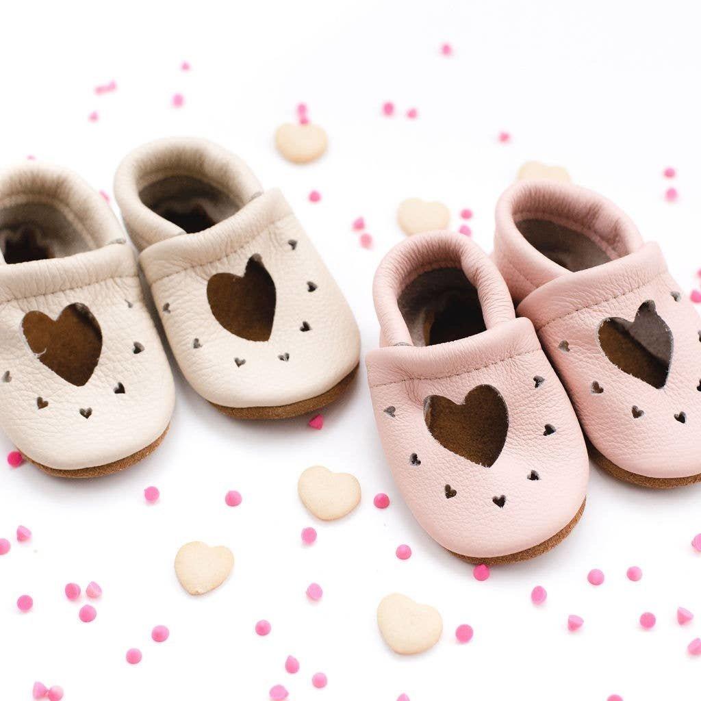 Starry Knight Designs Heart Janes Shoe - Dusty Rose  NB-3M