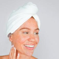 Microfiber Hair Towel-White