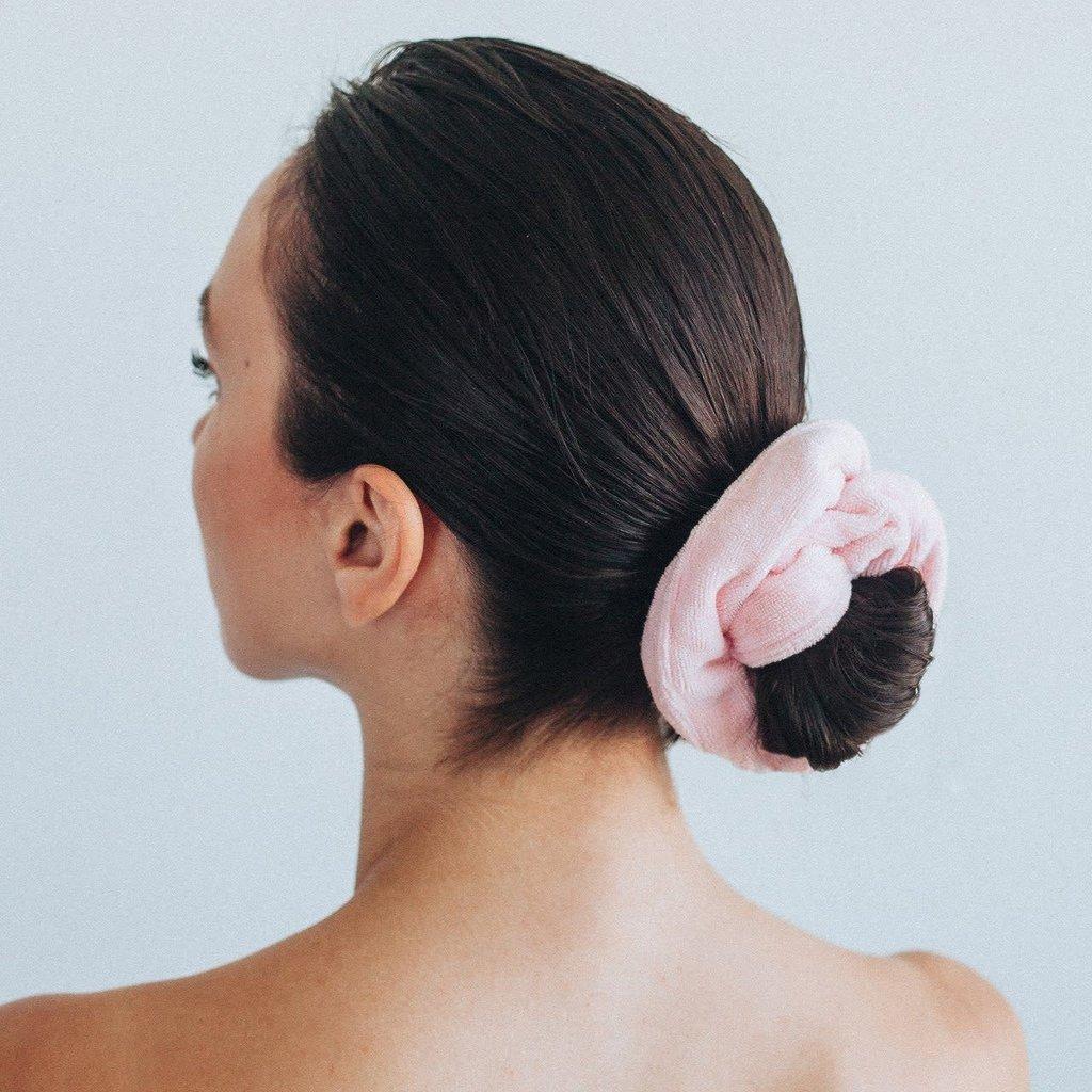 Microfiber Towel Scrunchies-Blush