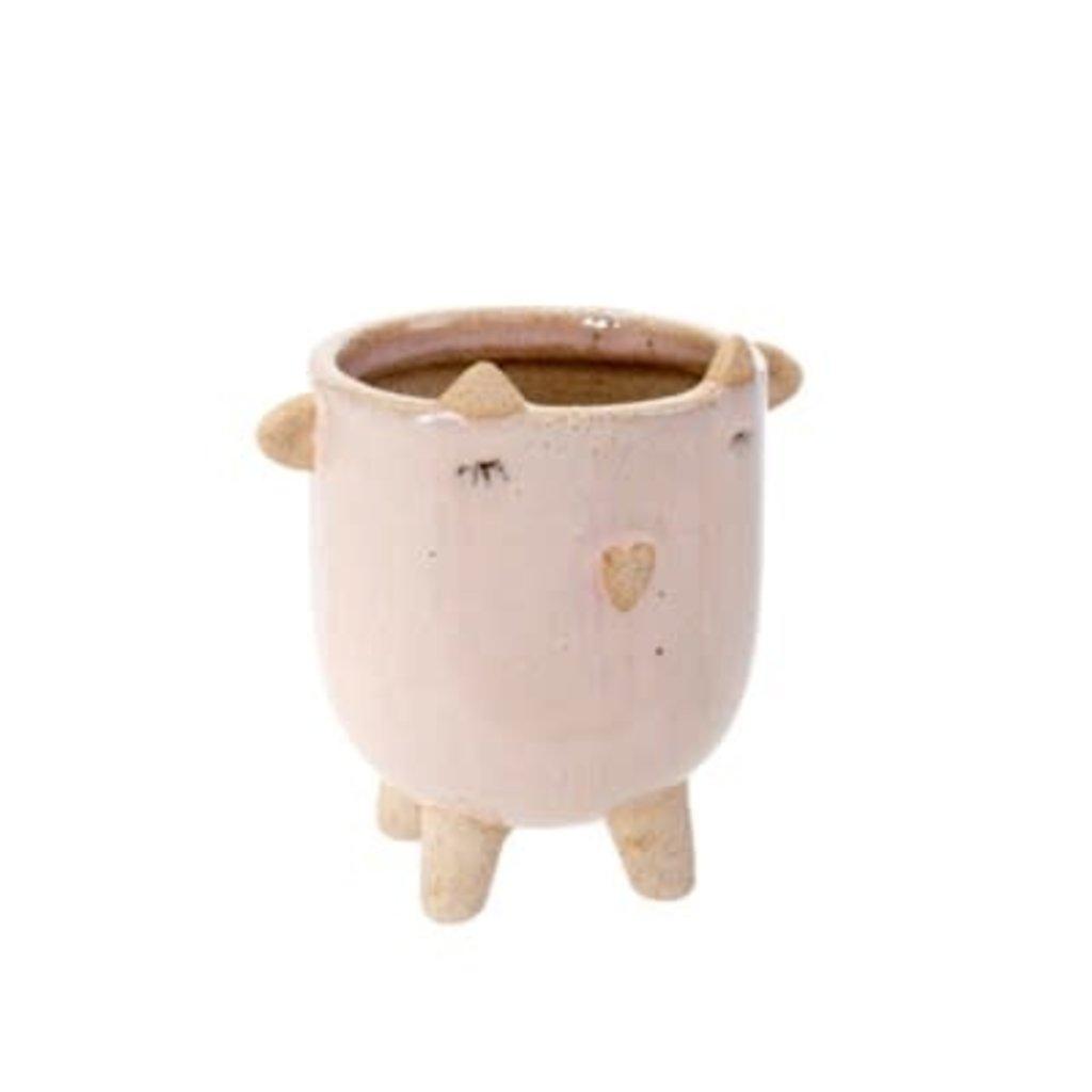 Indaba Little Lamb Pot, Blush