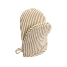 Indaba French Linen Oven Mitt, Taupe