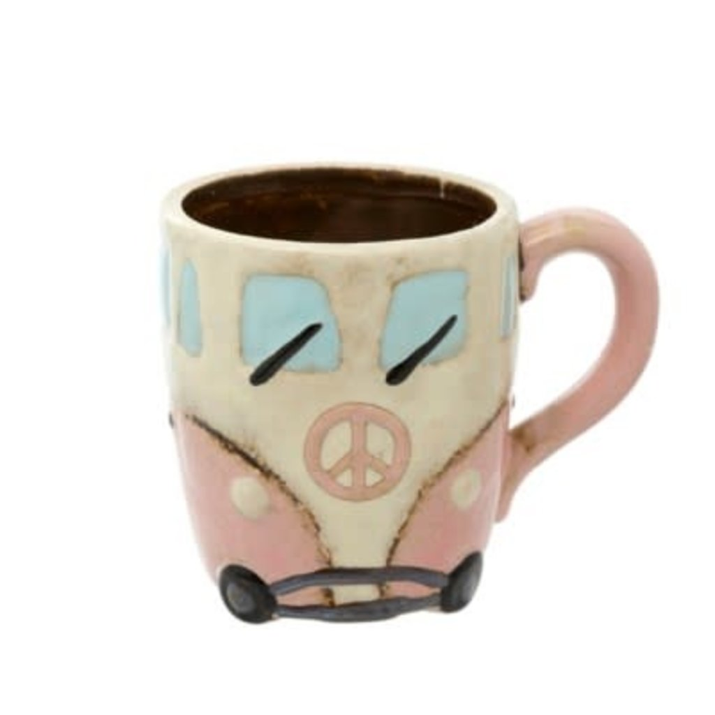 Indaba Peace Van Mug, Pink